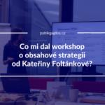 náhledovka workshop obsahová strategie