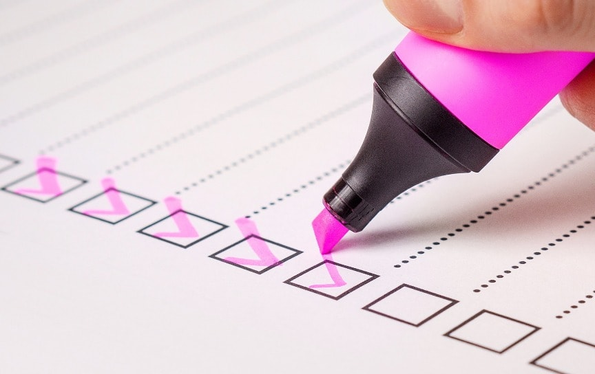 Náhledový obrázek checklistu