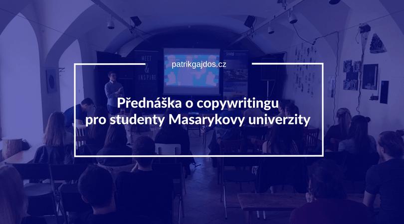 Přednáška pro studenty o copywritingu v brně