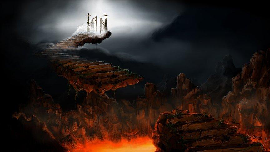 Obrázek cesty do nebe z pekla