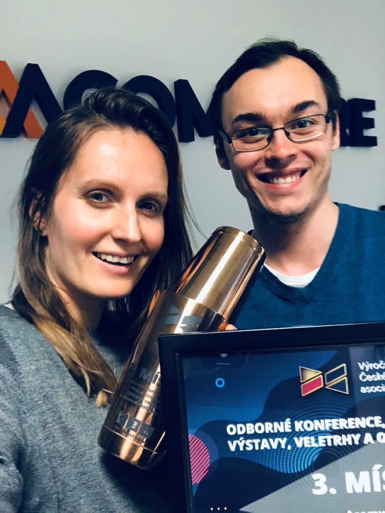 Výroční ceny české eventové asociace Patrik Gajdoš Terezie Charvátová Eshopista Acomware